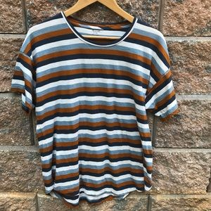 Madewell High-low Striped T-shirt Tee